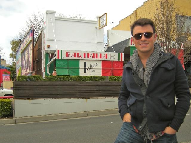 Outside of Bar Italia