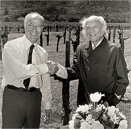 Mondavi and Rothschild Photo Source: The New York Times -Bettmann/Corbis