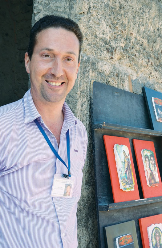 Modern Artisan- Gennaro Calabrese with his artwork