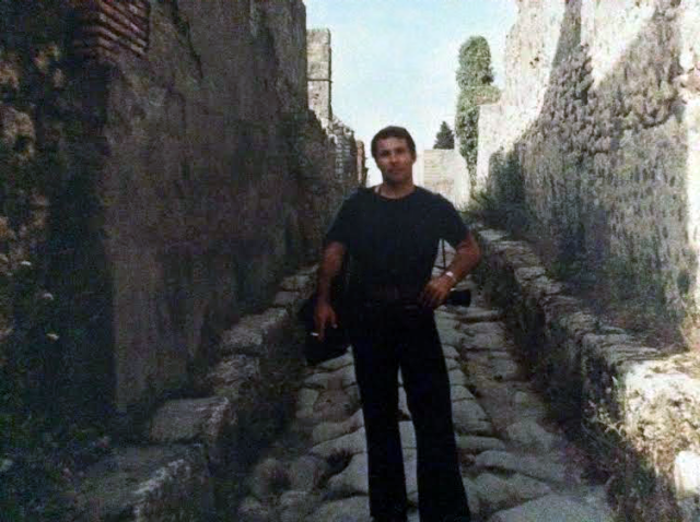 Joe Marvullo in Pompeii in the 1970s